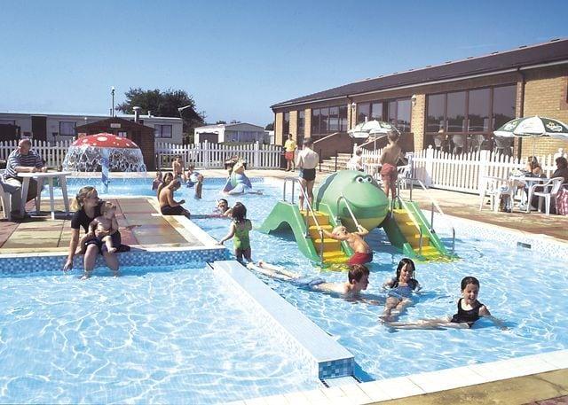Outdoor heated children's fun pool
