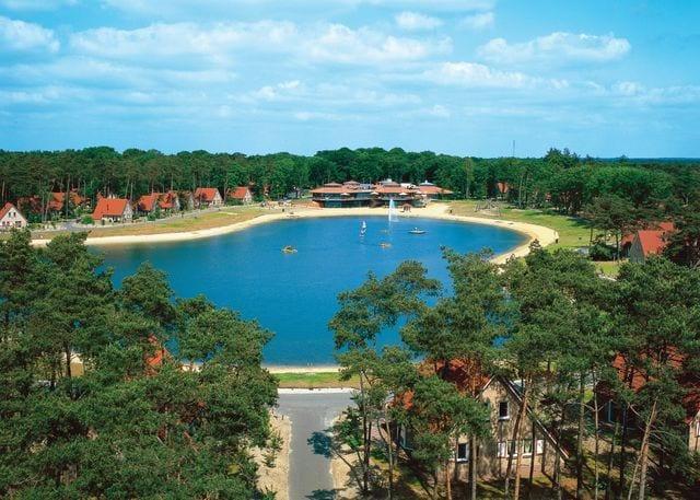 The lakeside setting