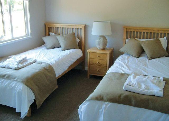 Typical Kiwi Kite twin bedroom
