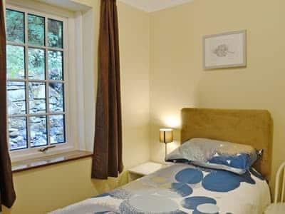 Comfy single bedroom | Clocktower Cottage, Kildonan, near Girvan