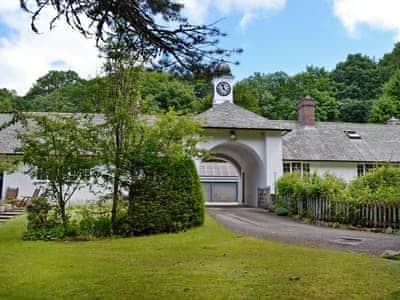 Impressive entrance | Clocktower Cottage, Kildonan, near Girvan