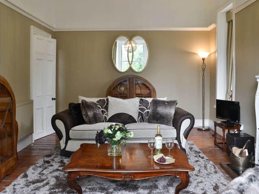 Thoughtfully furnished living room | Rhumhor House, Carrick Castle, near Lochgoilhead