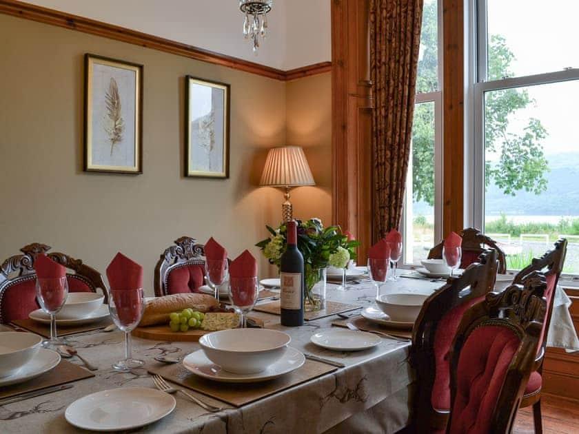 Dining room | Rhumhor House, Carrick Castle, near Lochgoilhead