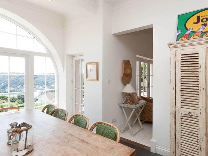 Spacious dining area with terrace access | La Tourelle, Salcombe