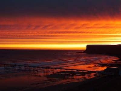 Breathtaking sunset views | Hazel Towers, Saltburn-by-the-Sea