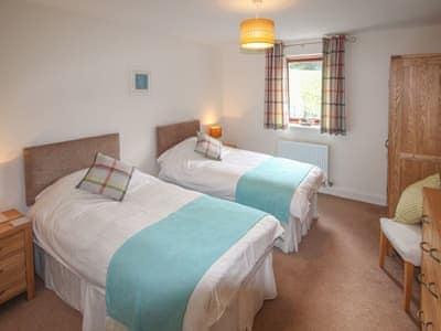 Comfortable and warm twin bedded room | Achabeg, Inverlussa, near Achnamara