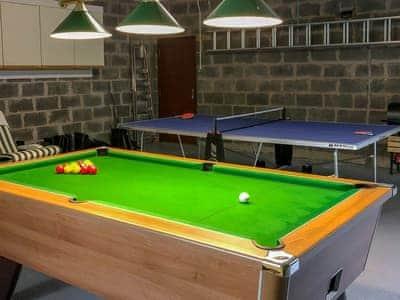 Entertaining games room   Ard Taigh, Fearnan, near Aberfeldy