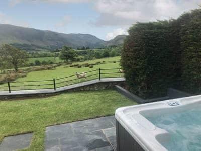 Private hot tub   The Hoggest, Threlkeld, near Keswick