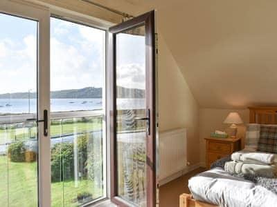 Wonderful views from the master bedroom's Juliette balcony | Rivendell, Lamlash, Isle of Arran