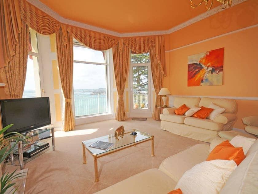 Living room | Ocean Shangri-La, Bay Fort Mansions - Bay Fort Mansions, Torquay