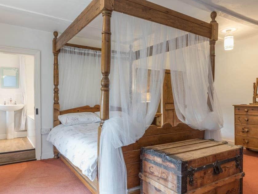 Four poster bedroom   Park Farmhouse, Chideock, near Bridport