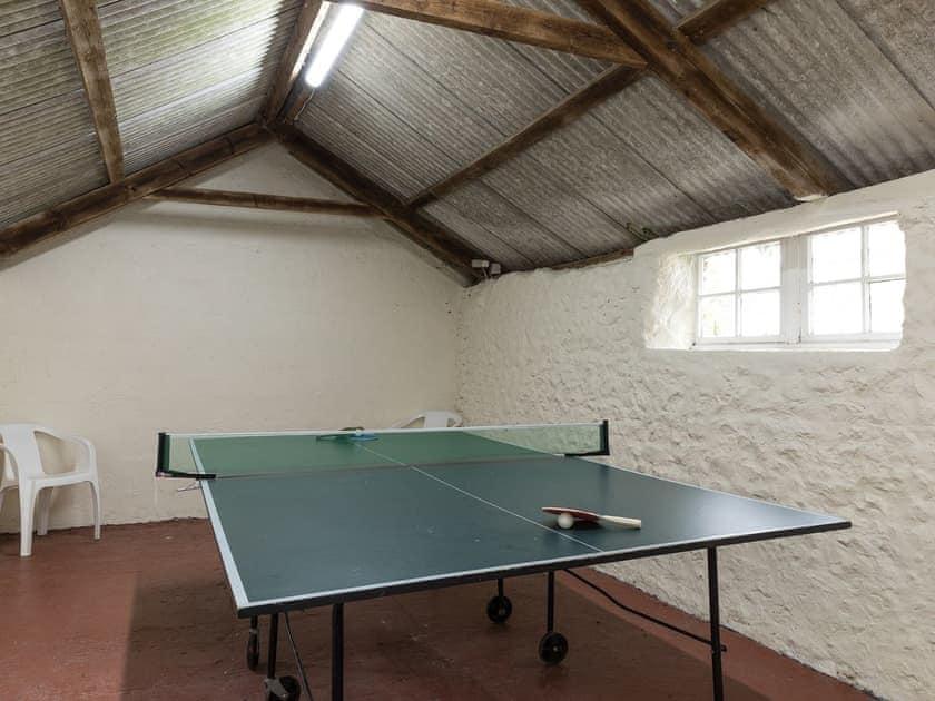 Games room with table tennis   Park Farmhouse, Chideock, near Bridport