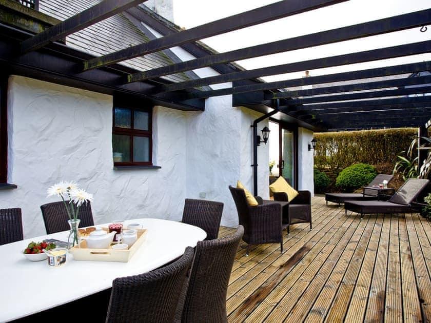 Wonderful relaxing decked area | Holly, Woodland Retreat - Woodland Retreat, Wadebridge