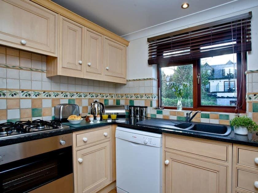 Tiled kitchen with garden views | Honeysuckle, Woodland Retreat - Woodland Retreat, Wadebridge