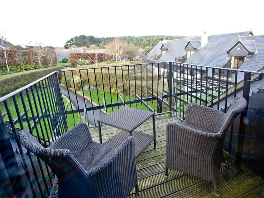 Bedroom balcony overlooking the garden | Orchid, Woodland Retreat - Woodland Retreat, Wadebridge