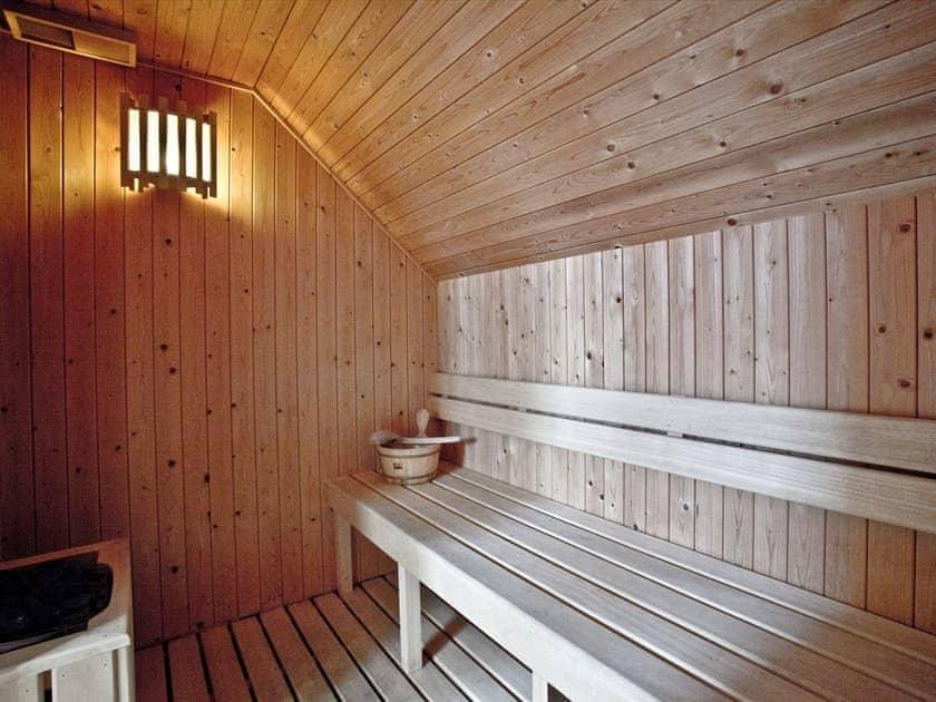 Stunning sauna in the en-suite | Orchid, Woodland Retreat - Woodland Retreat, Wadebridge