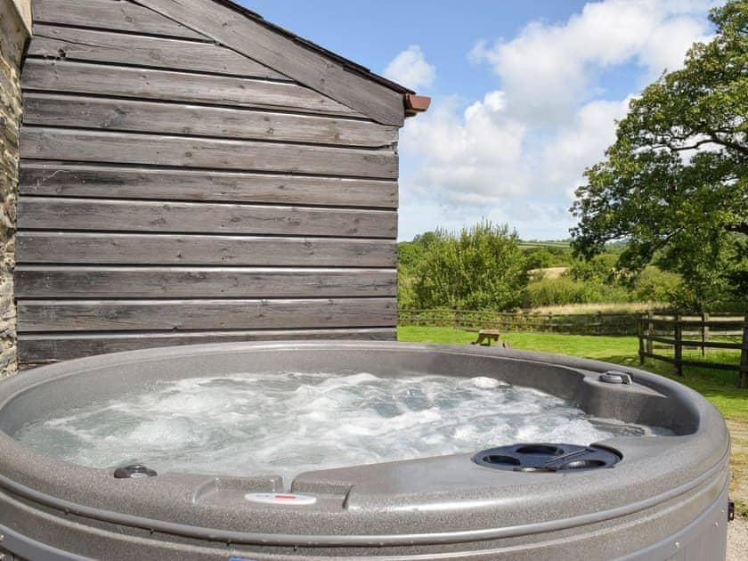 Luxurious hot tub | Rose Barn - Rosehill Farm, Llangoedmor, near Cardigan