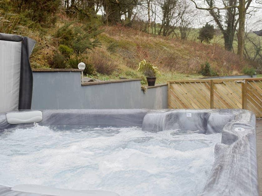 Luxurious hot tub | Beudy - Bwlch Y Person Barns, Dihewyd, near Aberaeron
