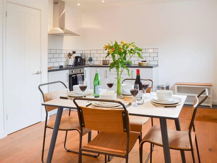 Wooden floored open plan living space | The Studio, Three Oaks, near Hastings