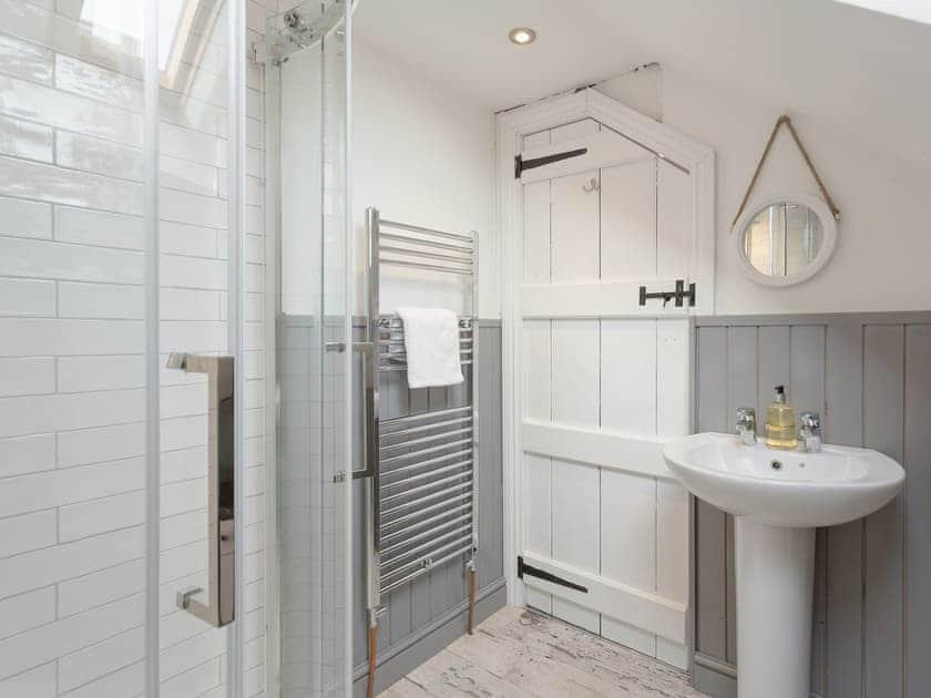 En-suite shower room   The Old Miners Hall - Burnside Cottages, Rookhope, near Stanhope