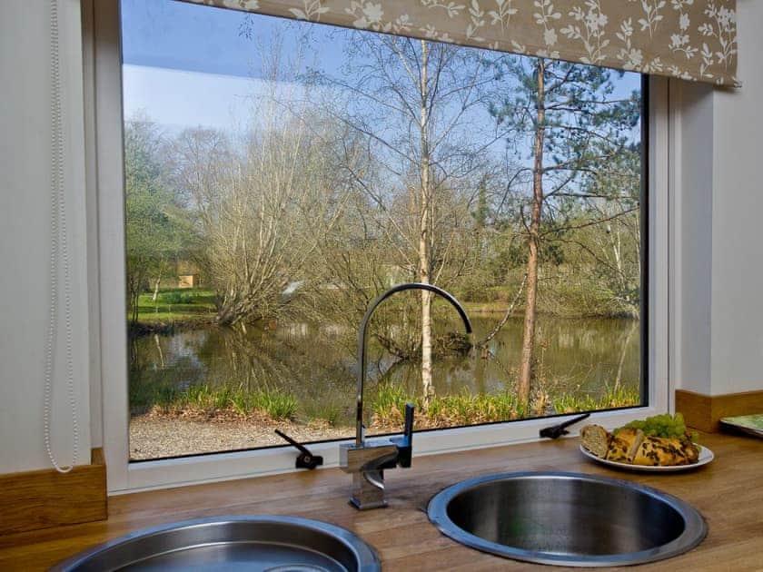 Wonderful view from the kitchen | Hunters Lodge, 2 Indio Lake - Indio Lake, Bovey Tracey