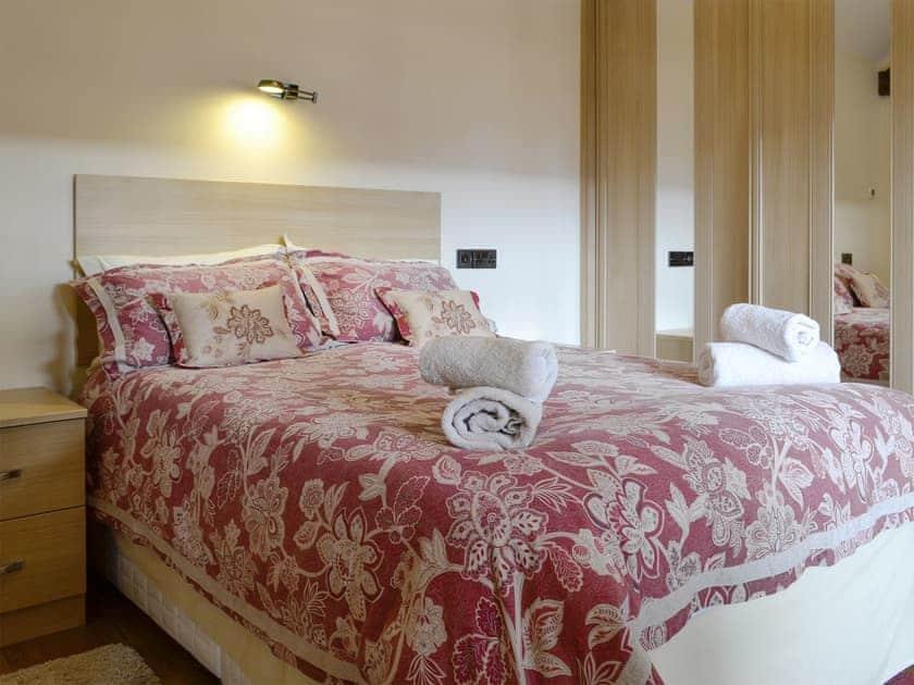 Relaxing double bedroom   Little Hendre Lodge - Old Hendre Farm, Wonastow, near Monmouth