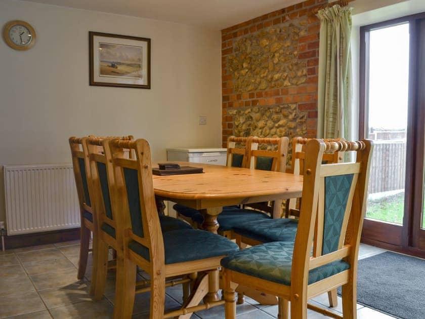 Ideal dining area | Church Farm Barn - Moor Farm Stable Cottages, Foxley, near Fakenham