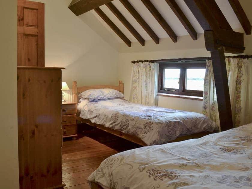 Twin bedroom | Church Farm Barn - Moor Farm Stable Cottages, Foxley, near Fakenham
