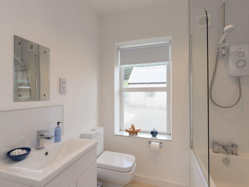 Ground floor bathroom with shower over bath | Fryup Gill Cottage 2 - Fryup Gill Cottages, Great Fryup, near Whitby
