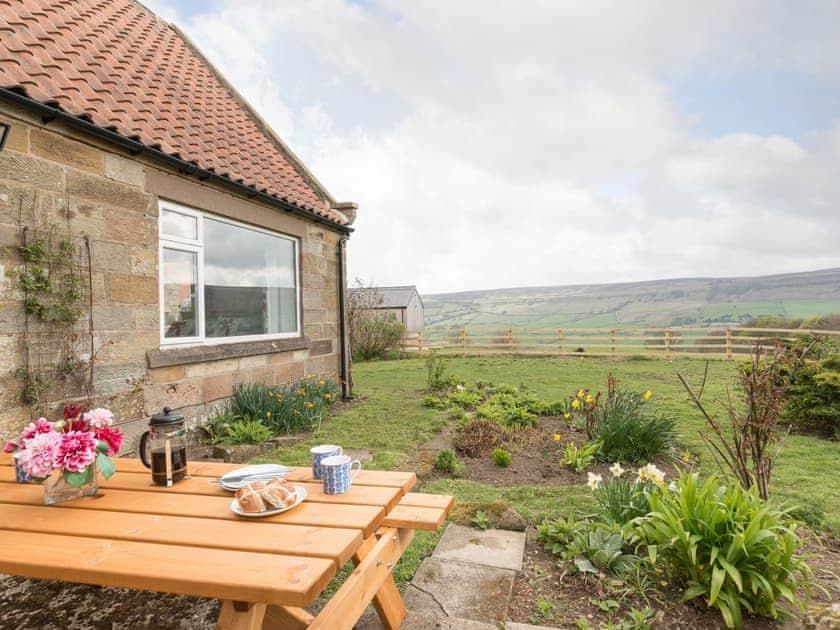 Garden with outdoor furniture | Fryup Gill Cottage 2 - Fryup Gill Cottages, Great Fryup, near Whitby