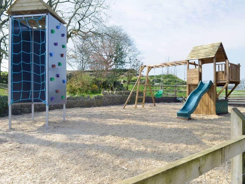 Enclosed children's play zone | Wellington Farm, Priddy, near Wells