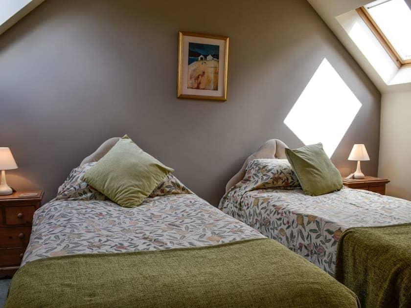 Twin bedroom | The Old School Penallt , Penallt, near Monmouth