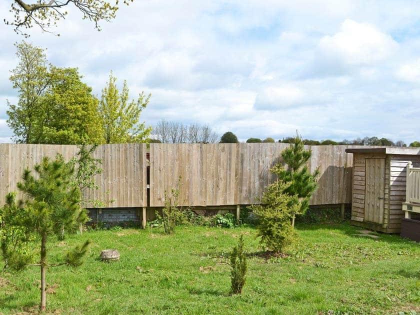 Peaceful garden area | Llama Lodge, Churchstanton, near Honiton