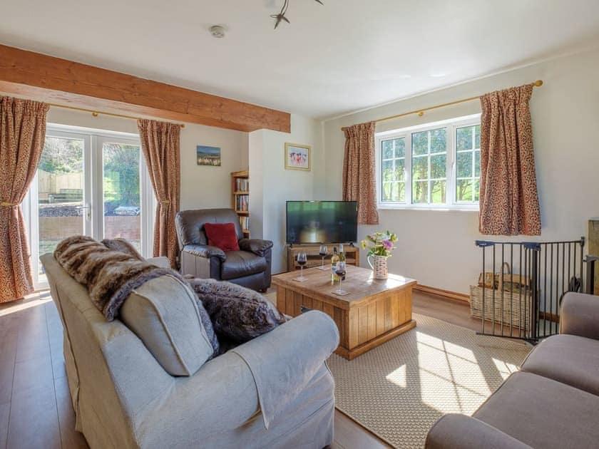 Living room   Rowborough Cottage - Cheverton Farm, Shorwell