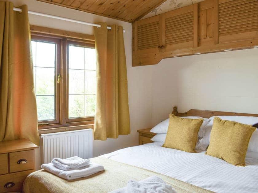Relaxing double bedroom | Llama Lodge, Churchstanton, near Honiton