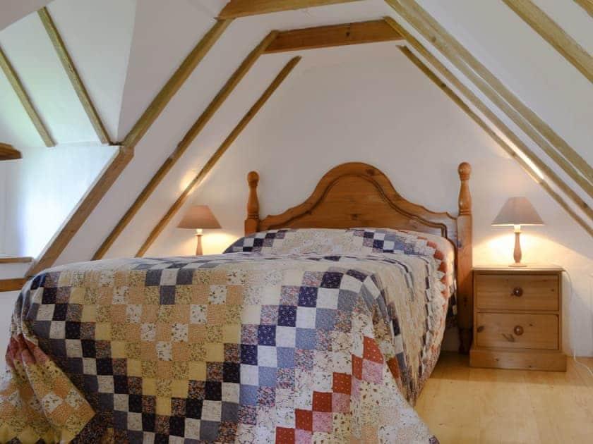 Galleried double bedroom | Snow White's House - Coynant Farm, Felindre, near Swansea