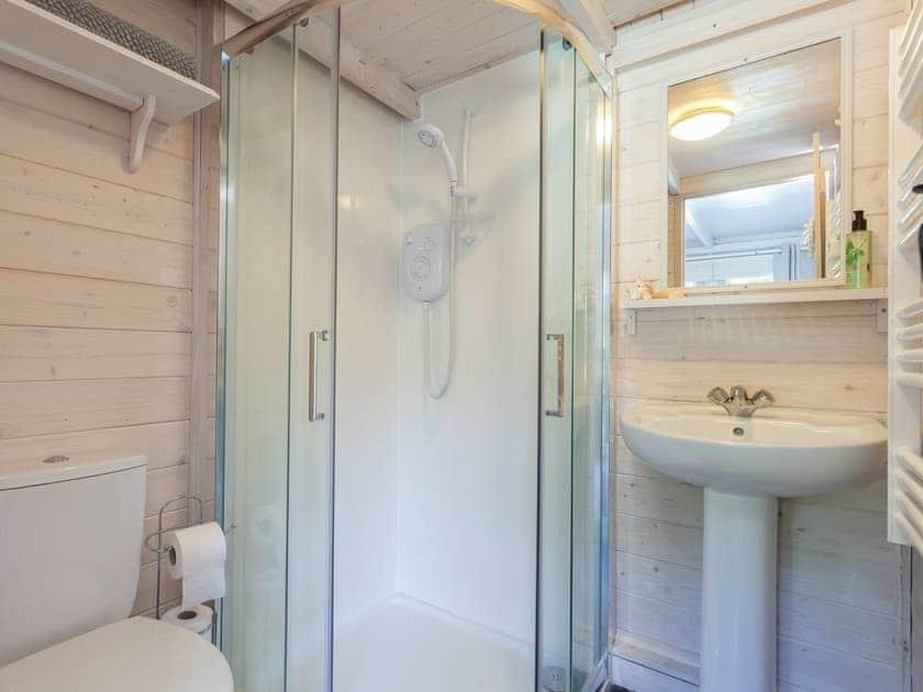 Cabin Shower Room   The Trees, Winsor, near Southampton