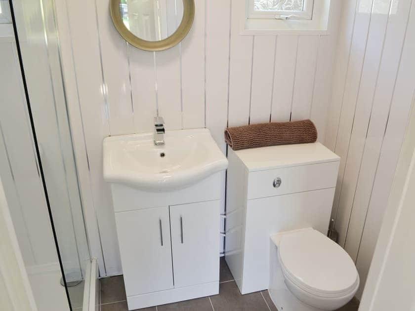 Shower room   Jonelka - Woodlands Park Retreats, Gilfachrheda, near New Quay