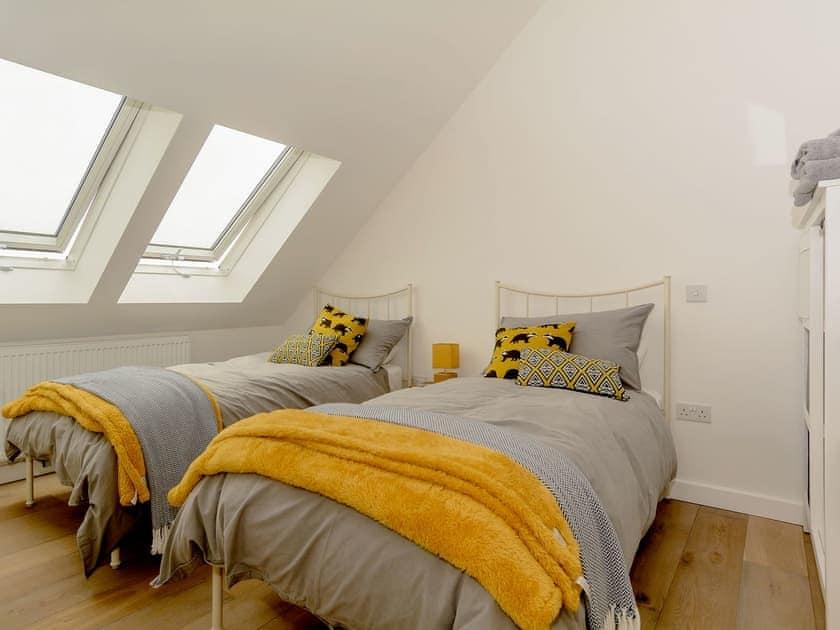 Twin bedroom | The Sett, Stone Allerton, near Cheddar