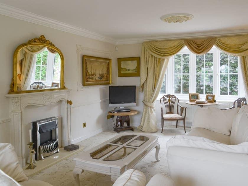 Elegant living room   Walnut Tree House, Tilney St Lawrence, near King's Lynn