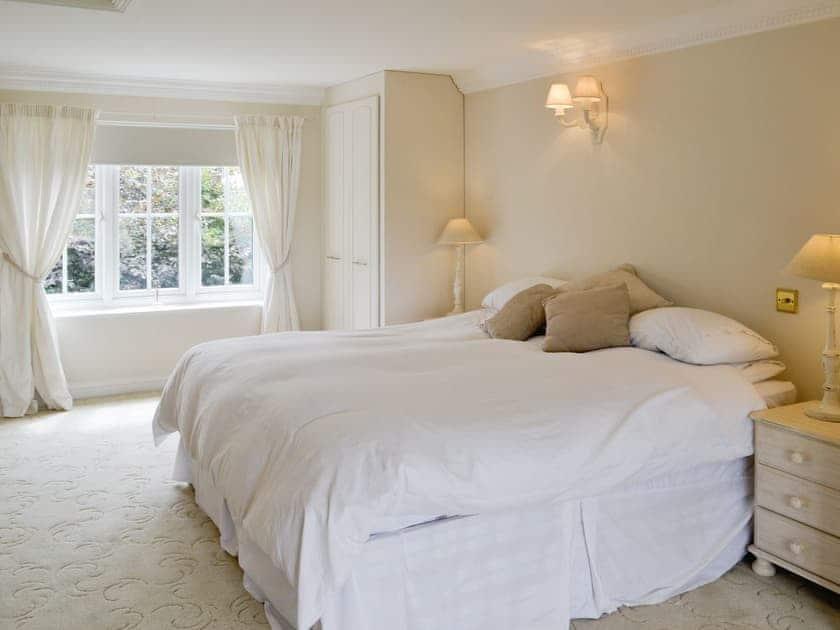 Relaxing master bedroom   Walnut Tree House, Tilney St Lawrence, near King's Lynn