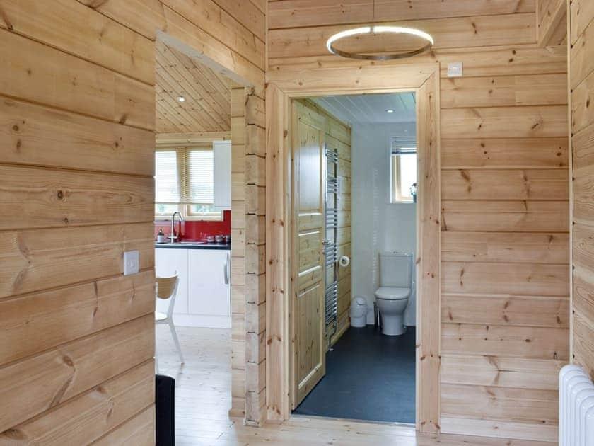 Hallway to bathroom and bedrooms   Poppy - Buckland Farm Log Cabins, Buckland St Mary, near Taunton