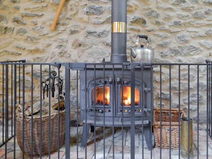 Warming wood burner | The Hen House - Cwm Clyd, Near Llandovery