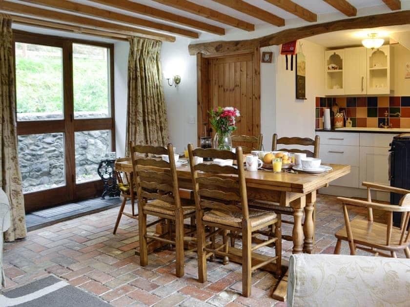 Spacious dining area | The Hen House - Cwm Clyd, Near Llandovery