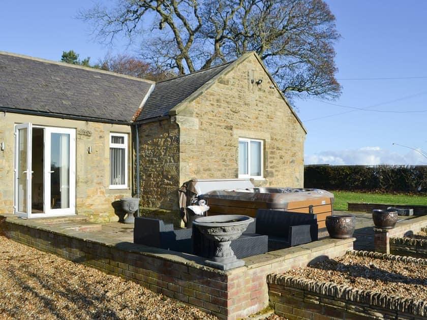 Raised patio area | Red Hen Cottage, Acklington