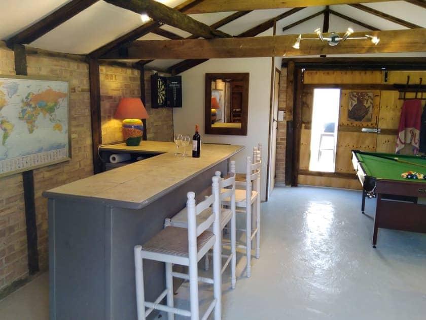 External bar/games room   Walnut Tree House, Tilney St Lawrence, near King's Lynn