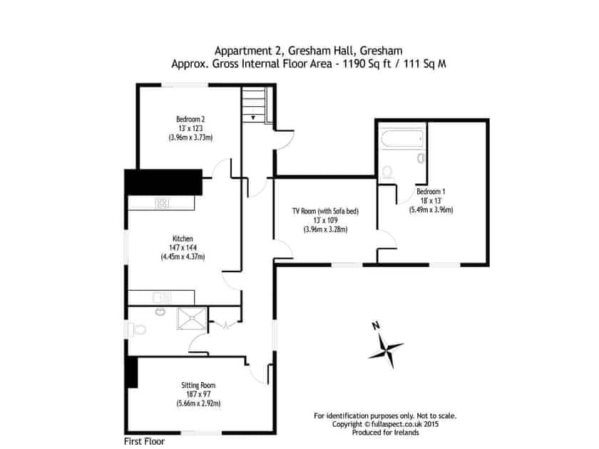 Floor plan   Middle Wing - Gresham Hall Estate, Gresham, near Sheringham