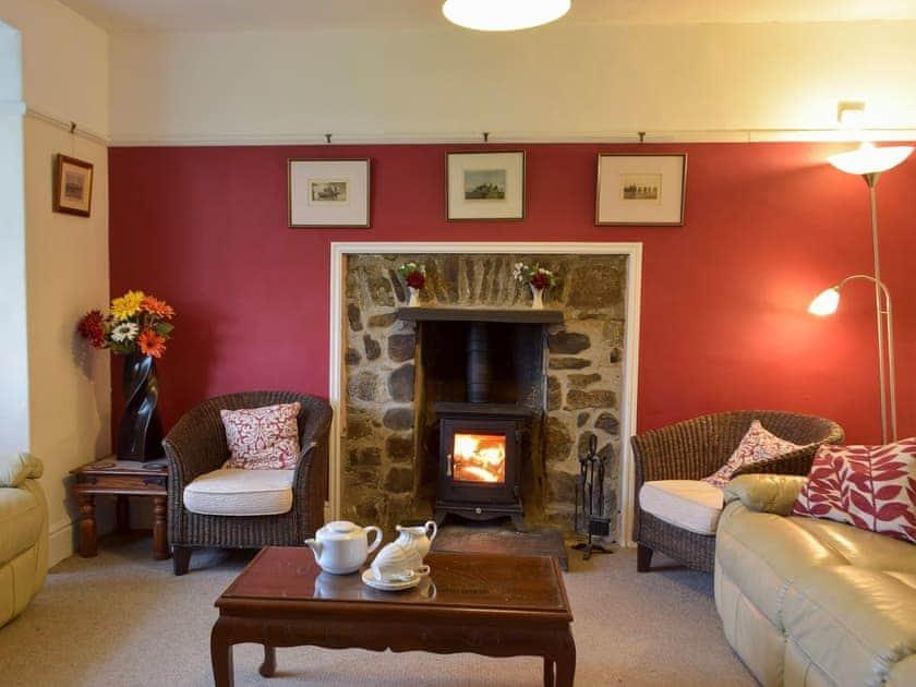 Comfortable living room with wood burner | Rwgan, Blaencelyn, near Llangrannog