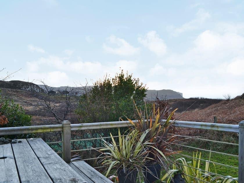 Inviting balcony with stunning views | The Cedars, Portnalong