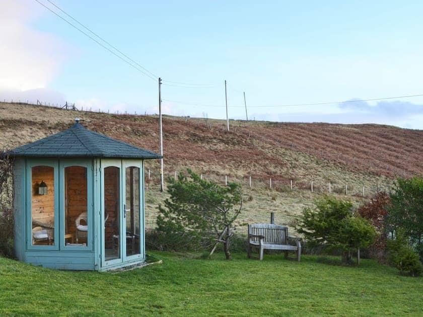 Large enclosed garden with summerhouse | The Cedars, Portnalong